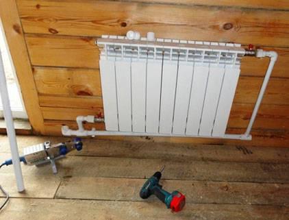 Отопление радиатор купить с установкой